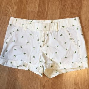 White palm tree shorts